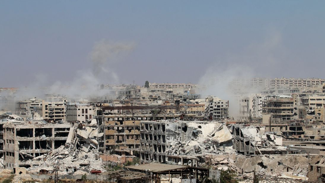 Syrian government forces try to retake control of Leramun in Aleppo