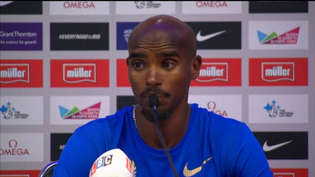 Mo Farah says he wants athletics to be fair