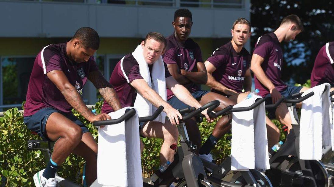 The England team's hotel in Rio de Janeiro