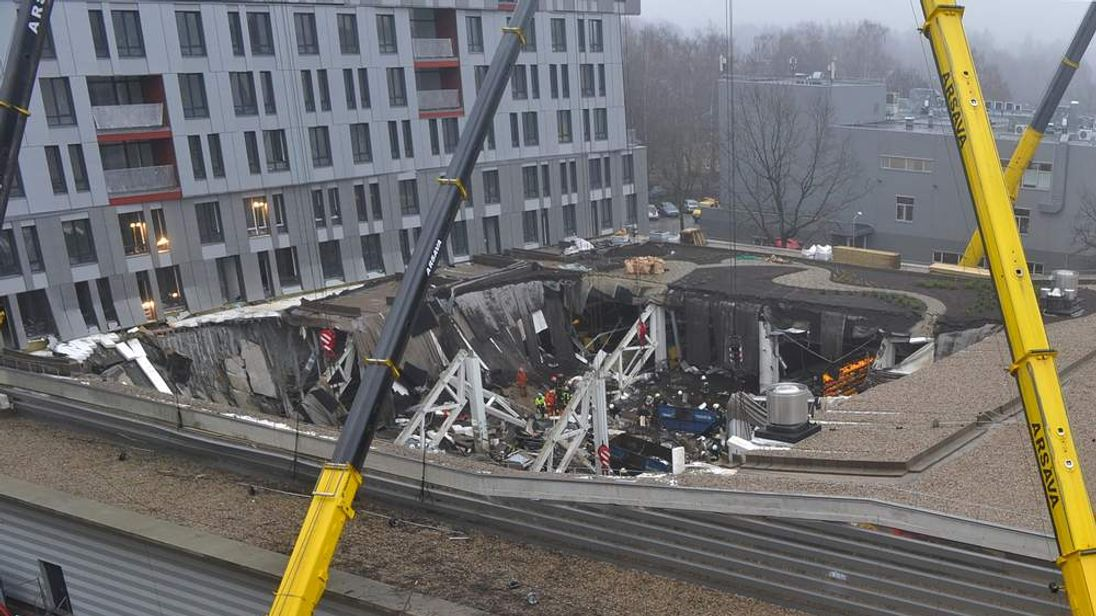 Latvia supermarket collapse