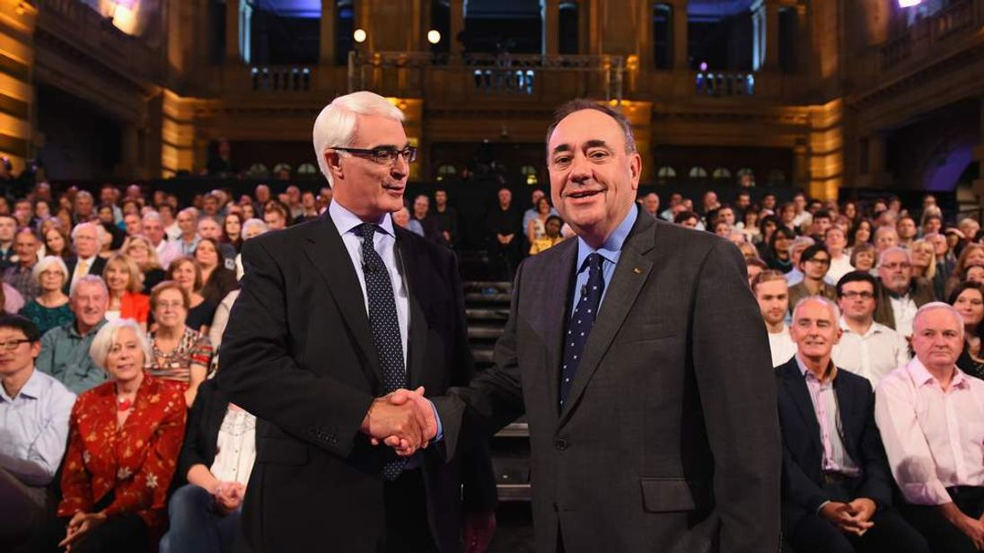 Second Television Debate Between Alex Salmond And Alistair Darling.