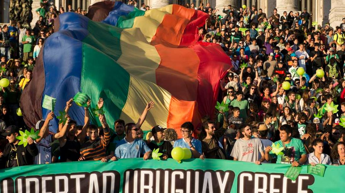 Uruguay Pro Marijuana March In Montevideo