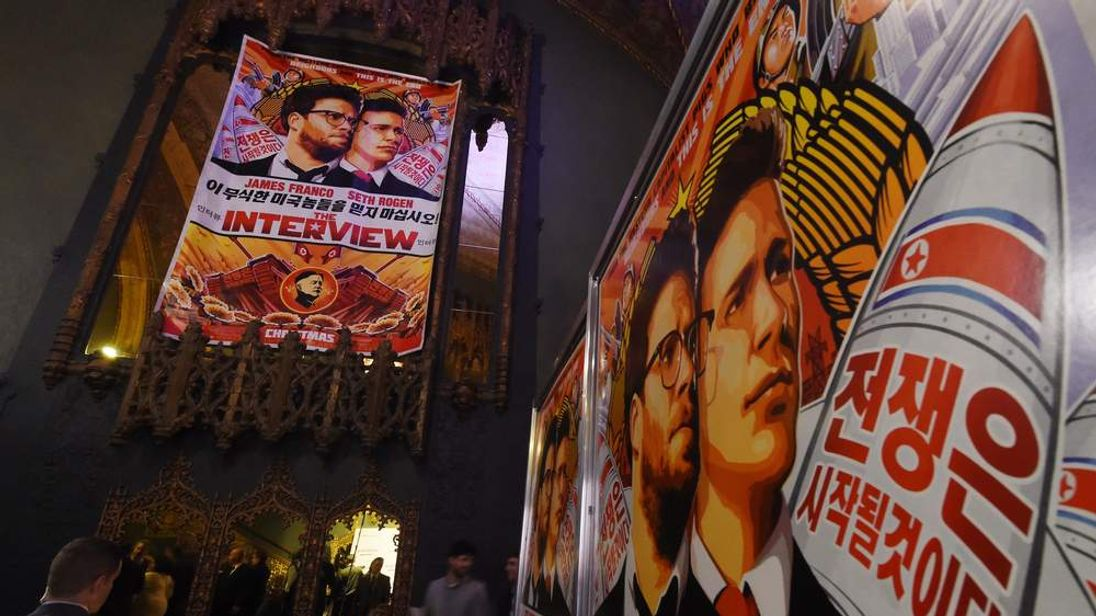 The Interview Movie Poster At Los Angeles Cinema