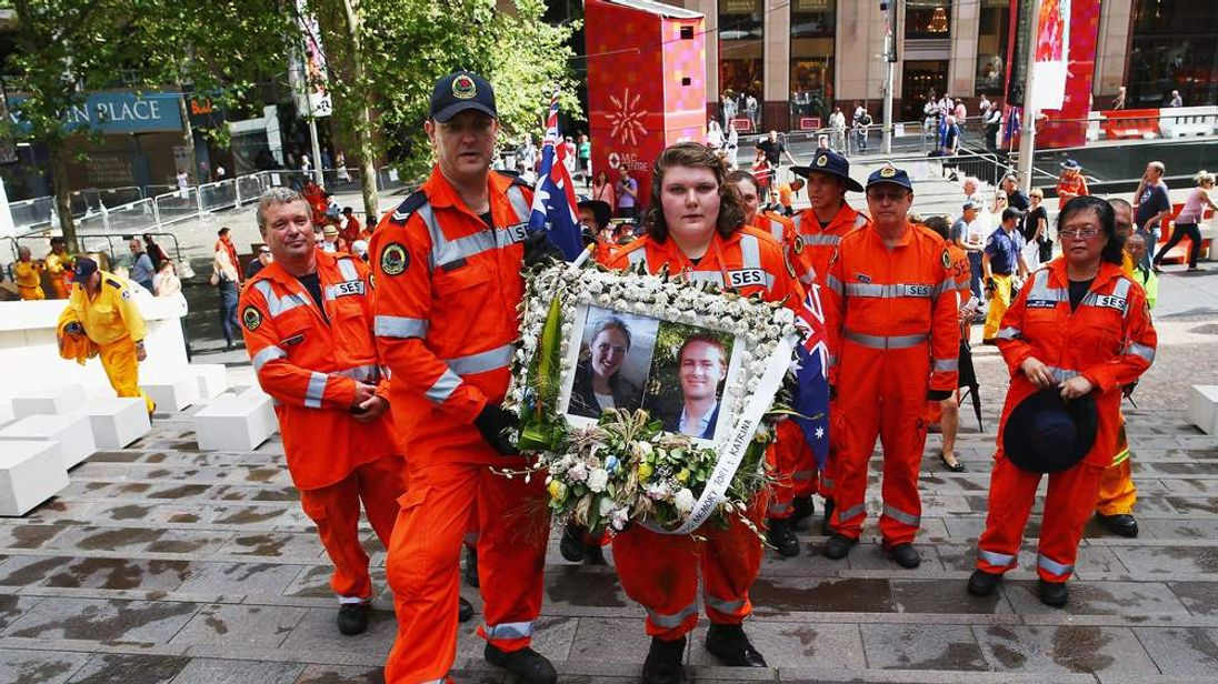 Flower Tributes For Sydney Siege Victims Removed From Martin Place
