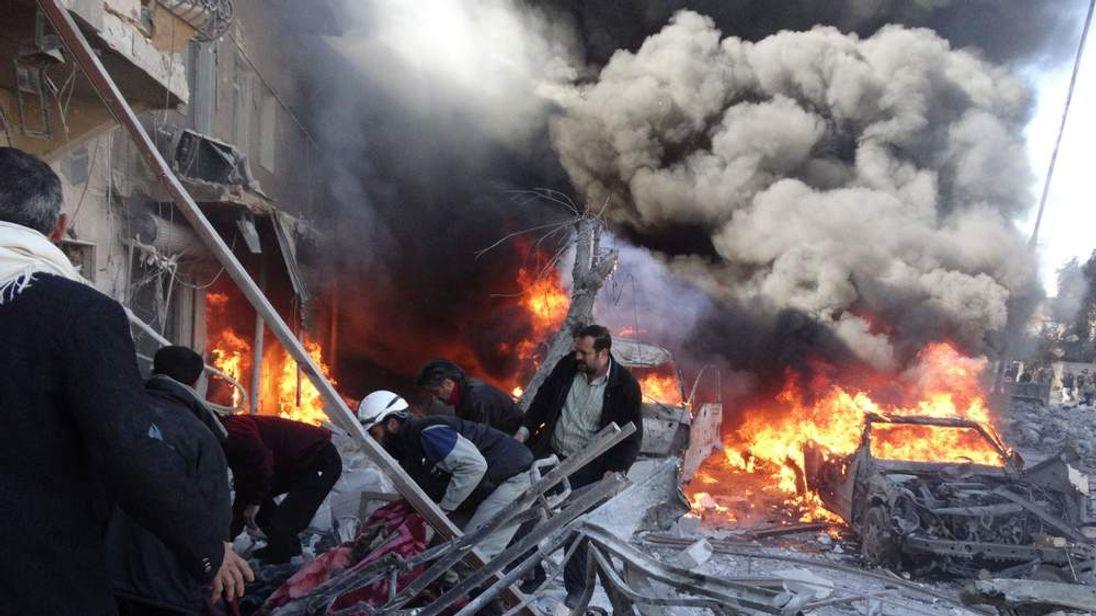 The aftermath in Tariq al-Bab, Aleppo