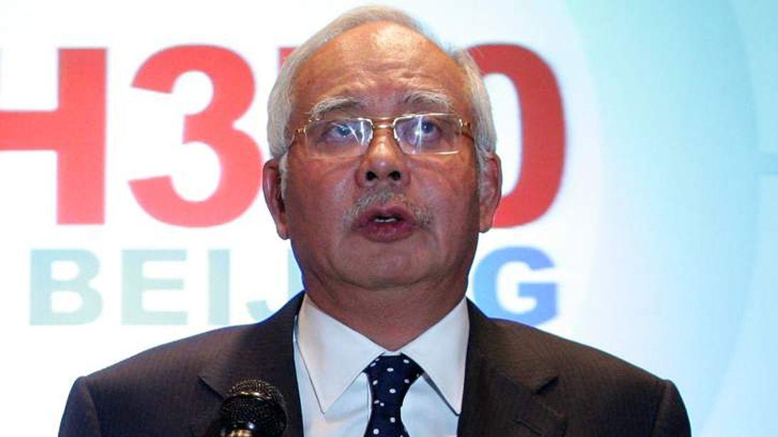 Malaysian Prime Minister Najib Razak Attends Press Conference
