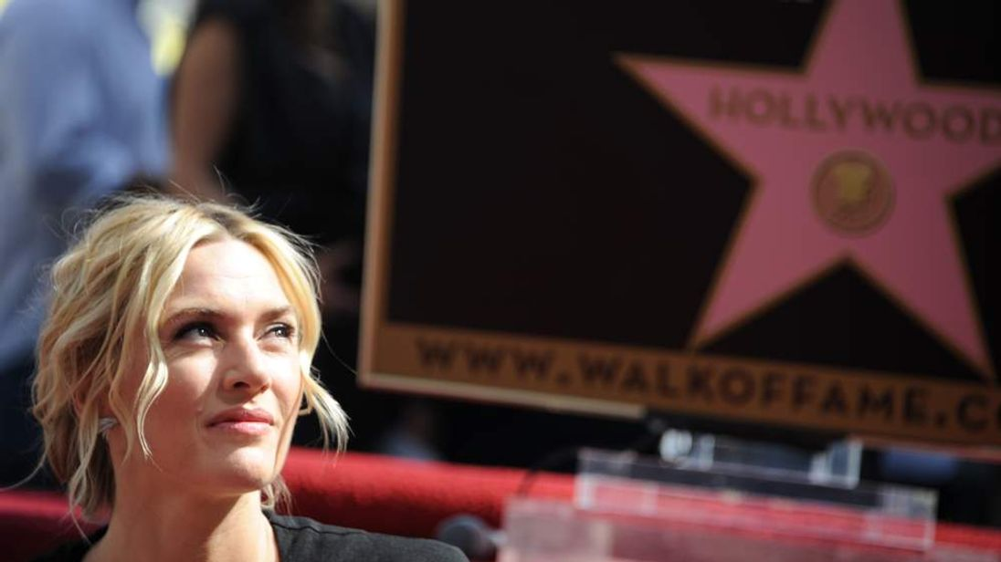 Kate Winslet is honoured with a star on the Hollywood Walk of Fame.