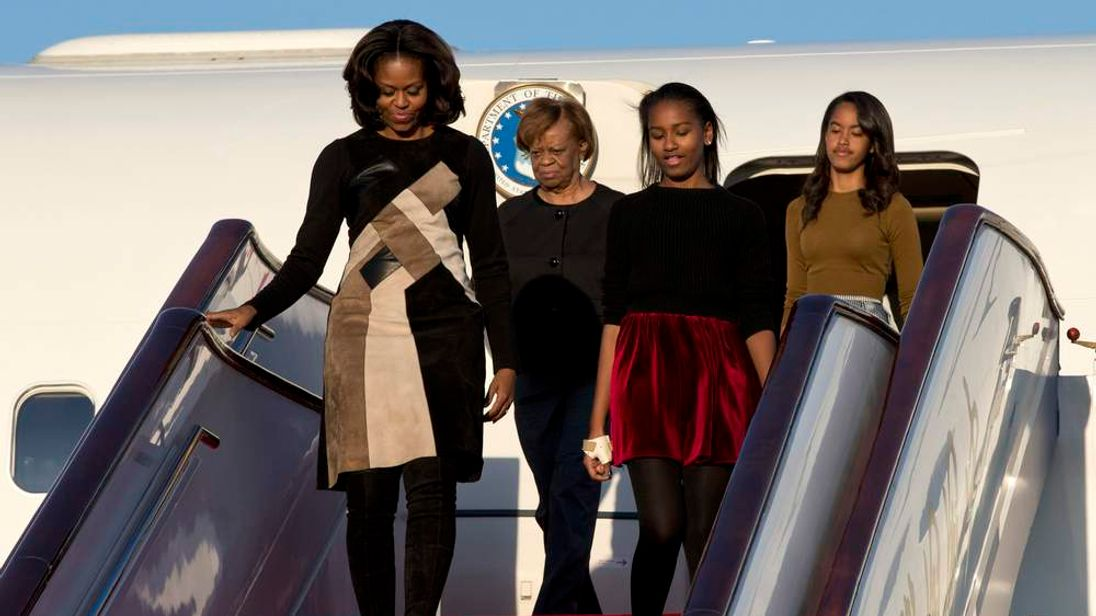 US First Lady Michelle Obama arrives in Beijing for a week long trip.