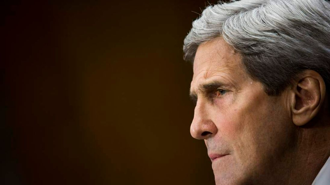 Secretary of State John Kerry testifies to the Senate Committee on international affairs budget.