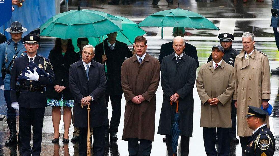 Vice President Joe Biden among the dignitaries taking part as Boston commemorates the one-year anniversary of the marathon bombings