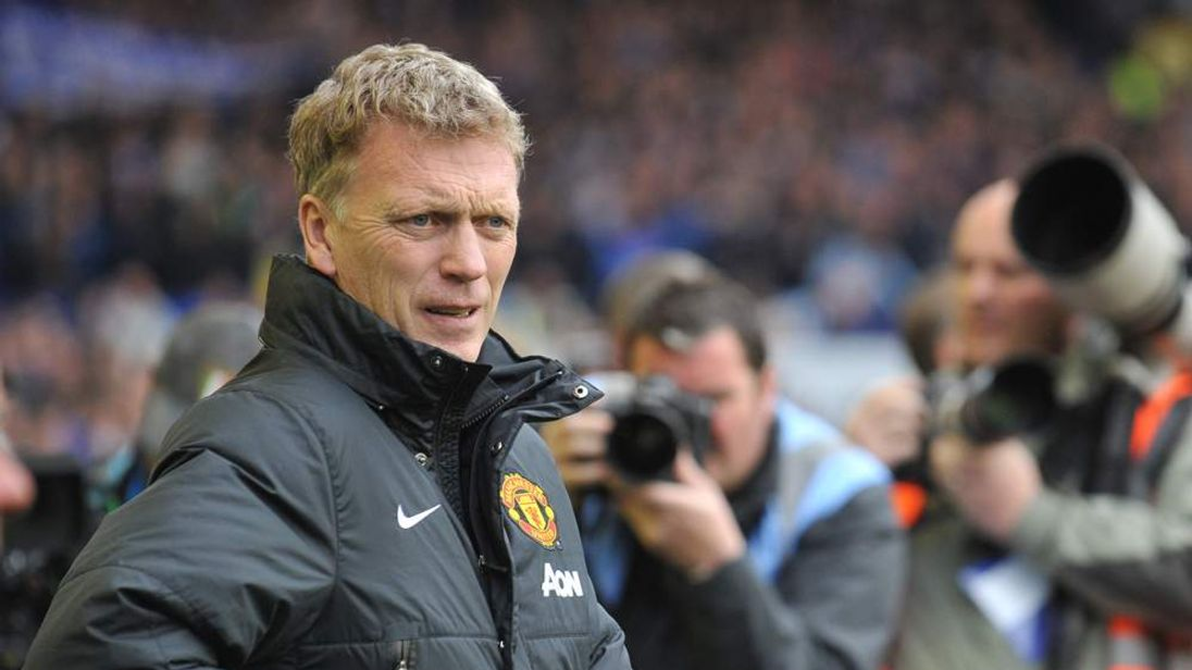 David Moyes at Goodison Park where Everton faced his Manchester United.