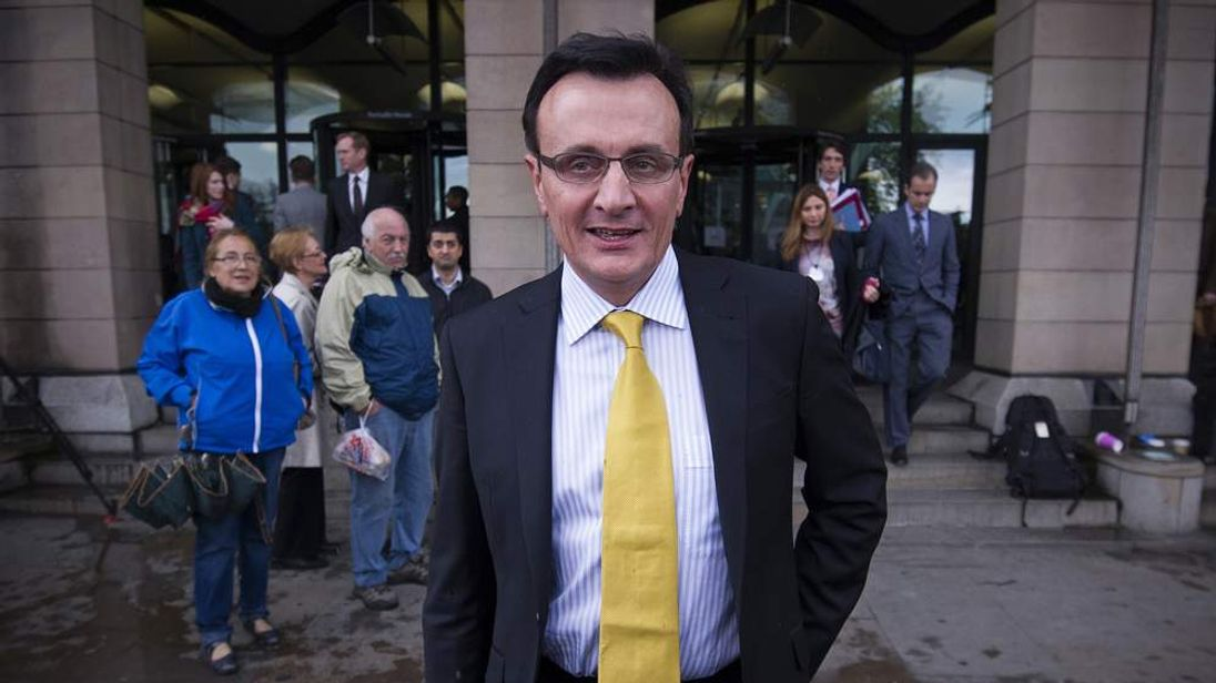 Pascal Soriot, Chief Executive Officer of AstraZeneca, leaves after giving evidence before the House of Commons