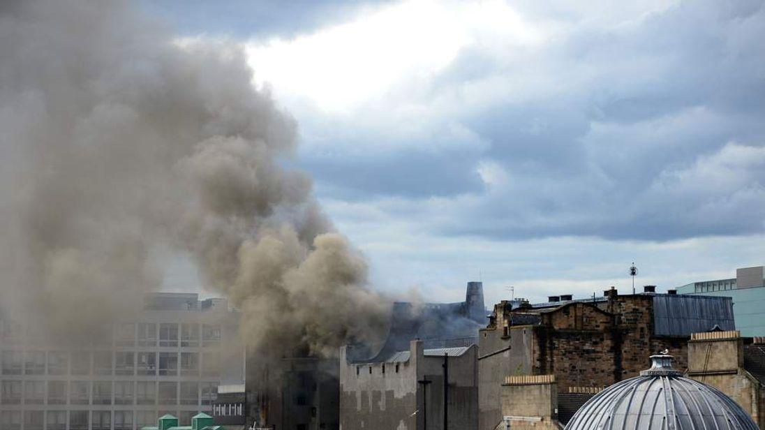 Fire At Glasgow School of Art Charles Rennie Mackintosh Building