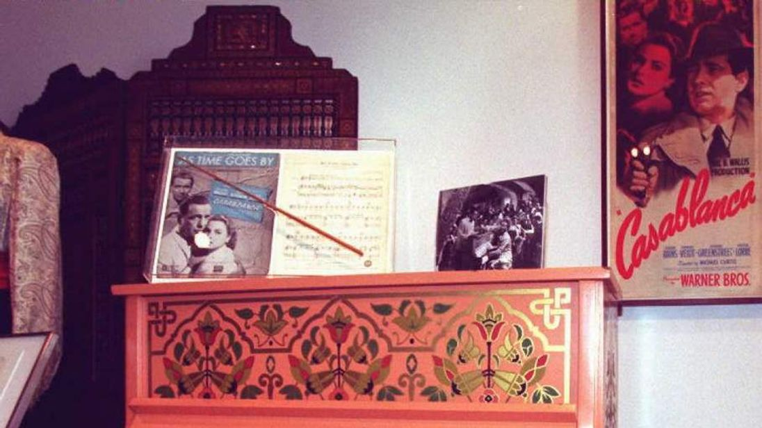 The piano used in the movie Casablanca