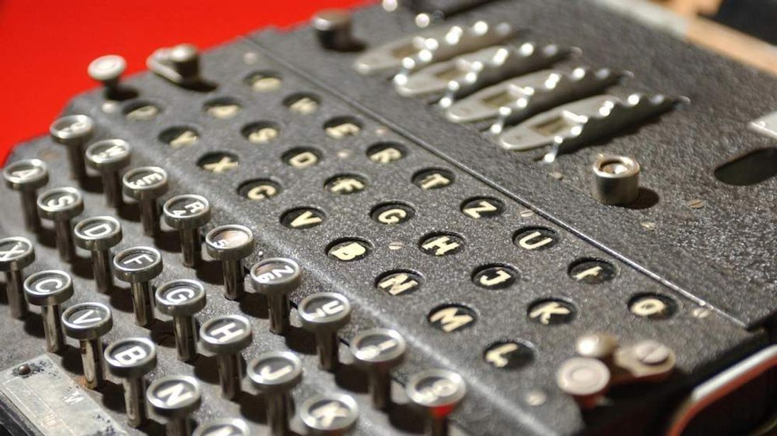 The World War II Enigma decoding machine