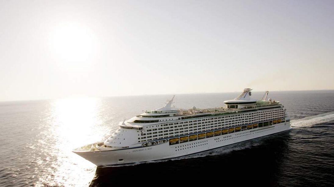 The Royal Caribbean Explorer of the Seas cruise ship.