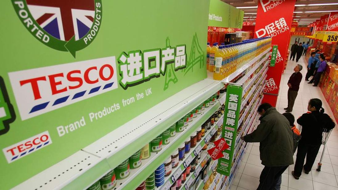 Tesco opens a supermarket in Beijing