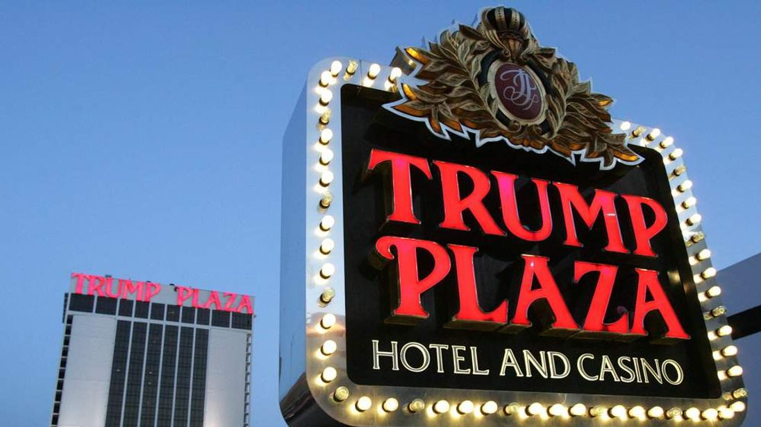 The Trump Plaza hotel and casino in Atla