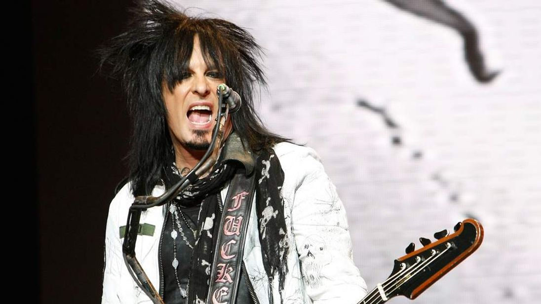 Nikki Sixx of Motley Crue performs in 2008