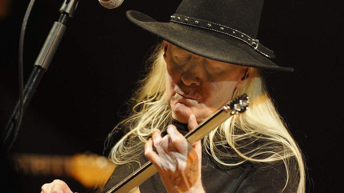 US guitarist Johnny Winter performs perf