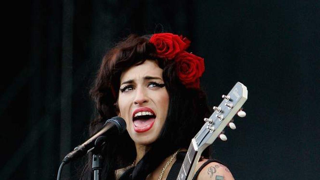 Amy Winehouse At V Festival In 2008