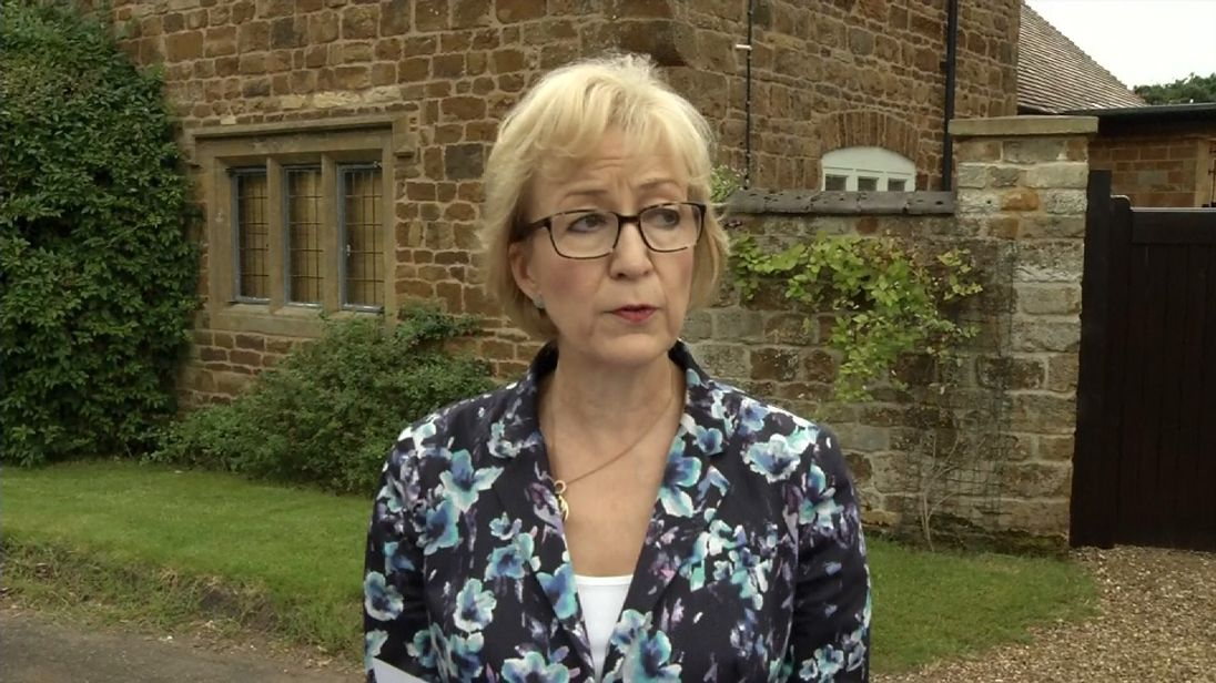 Andrea Leadsom defends comments she made to The Times about motherhood during the Tory leadership campaign