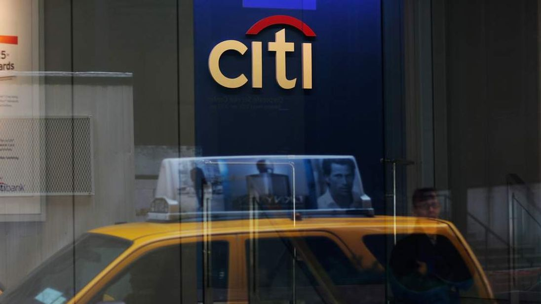 A Citibank branch bank across from headquarters Citigroup Center