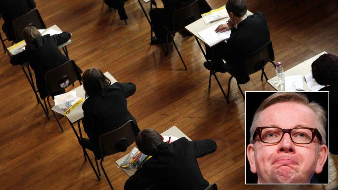Michael Gove has been planning to scrap GCSE exams.