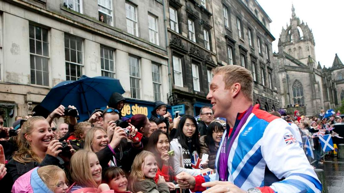 Chris Hoy in Edinburgh