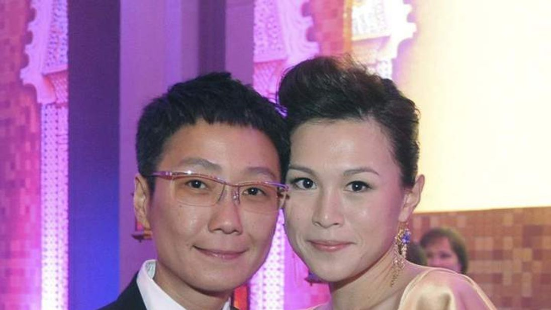 Gigi Chao with her partner Sean Eav