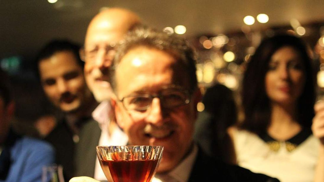 Salvatore Calabrese who has claimed to have set a new record for the most expensive cocktail in the world at Salvatore's at Playboy Club London.