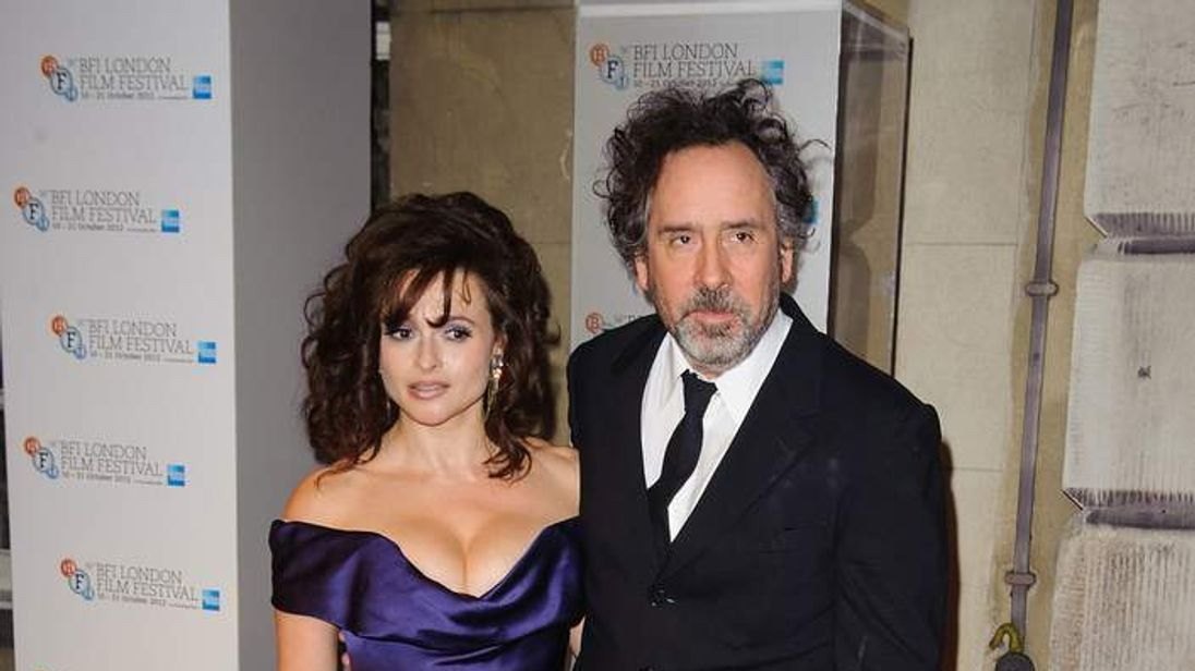 Helena Bonham Carter and Tim Burton at BFI London Film Festival Awards
