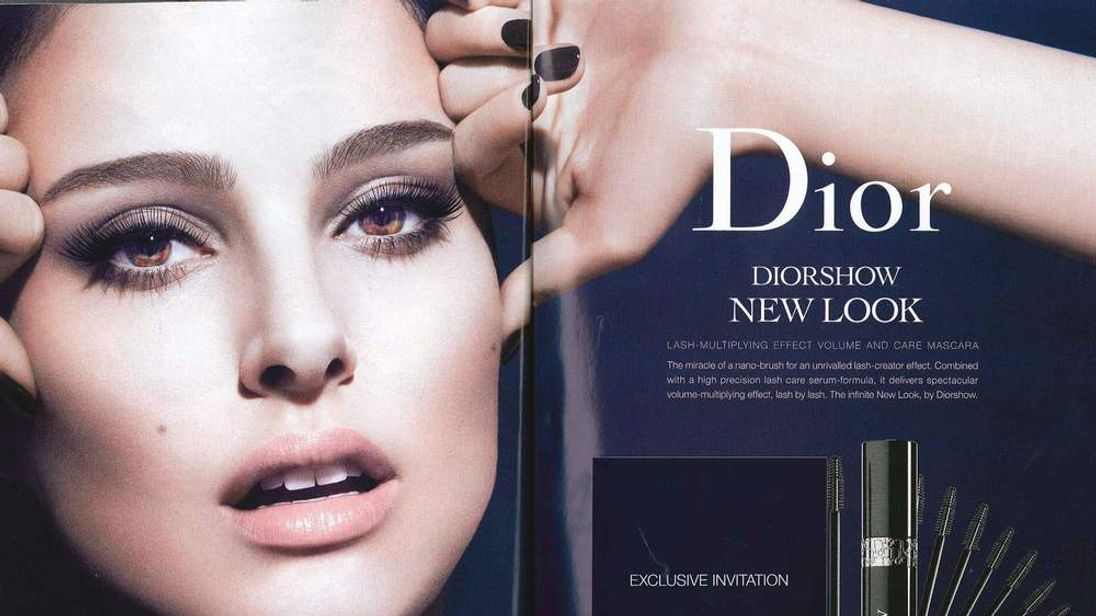 A Christian Dior mascara ad featuring Natalie Portman has been banned for exaggerating the effect of the product on her lashes