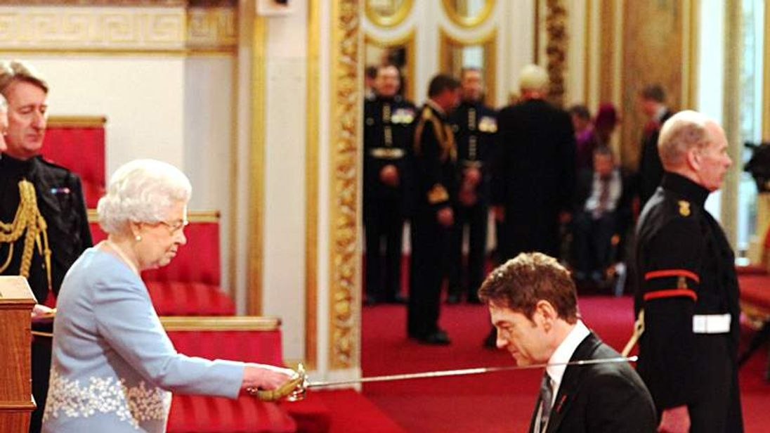 Actor Kenneth Branagh receives knighthood from the Queen
