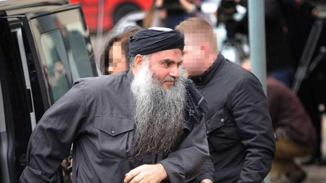 Abu Qatada arriving home