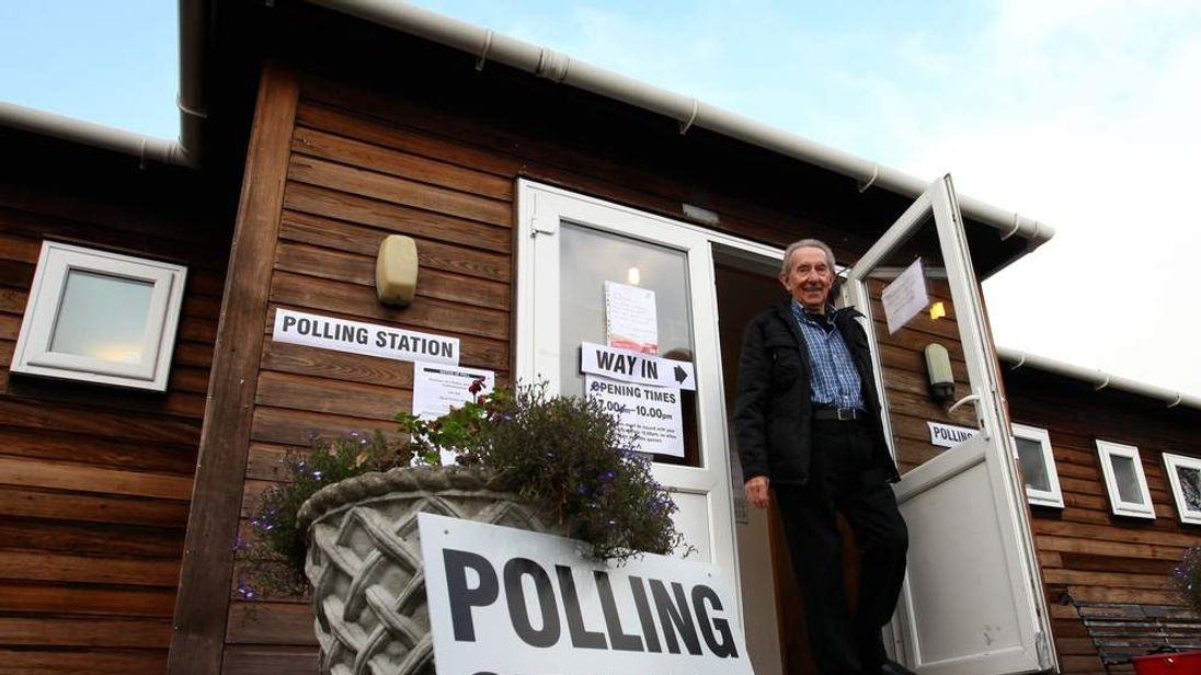 Bethersden polling station in Kent