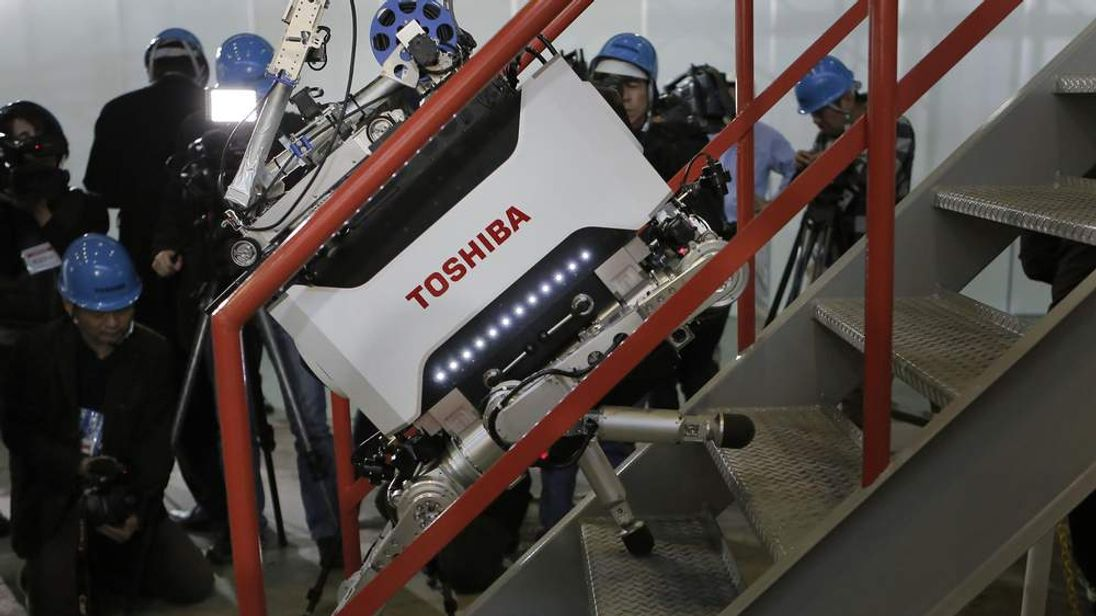 Toshiba nuclear inspection robot