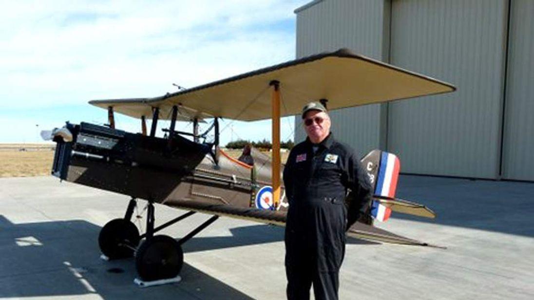 Retired RAF pilot Brian North