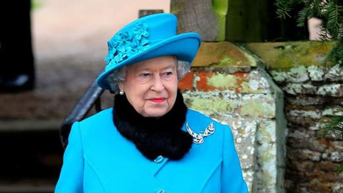 Royal attends Christmas Day church service