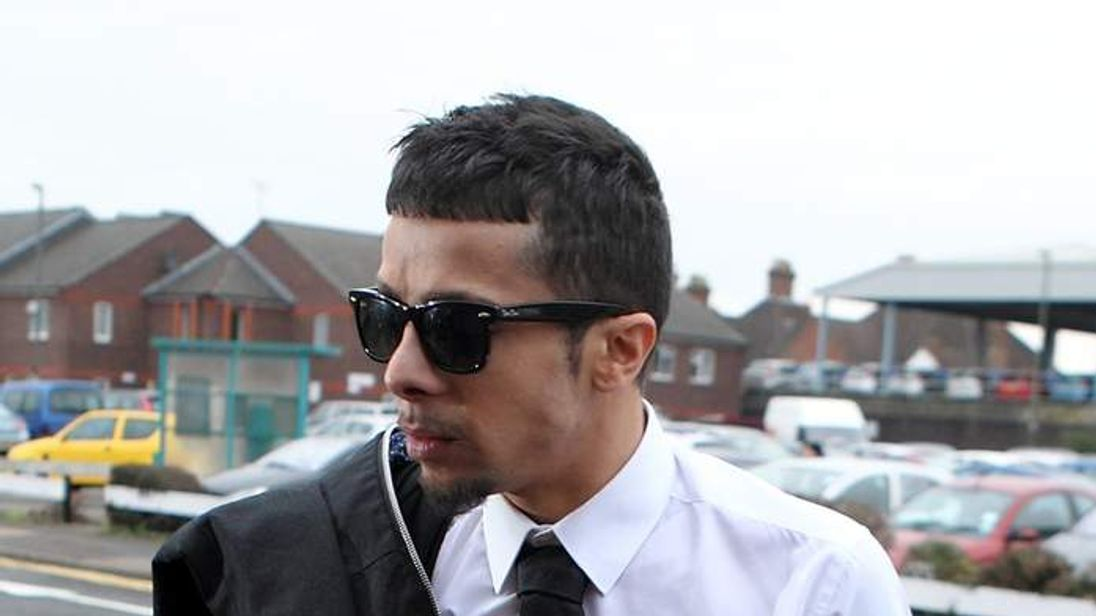 Dappy on his way into court