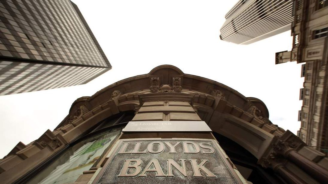 A general view of a branch of Lloyds Bank in the City of London