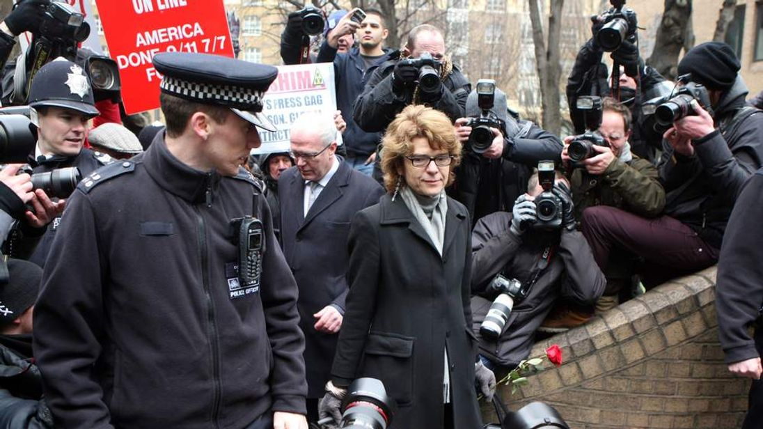 Vicky Pryce arrives for her sentencing