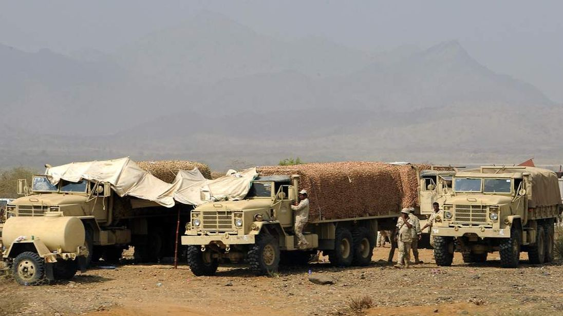 Saudi troops take position in the southe