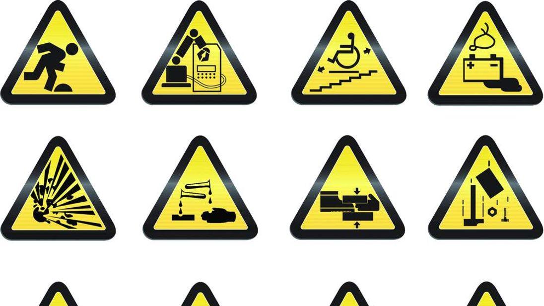 Industrial hazard signs