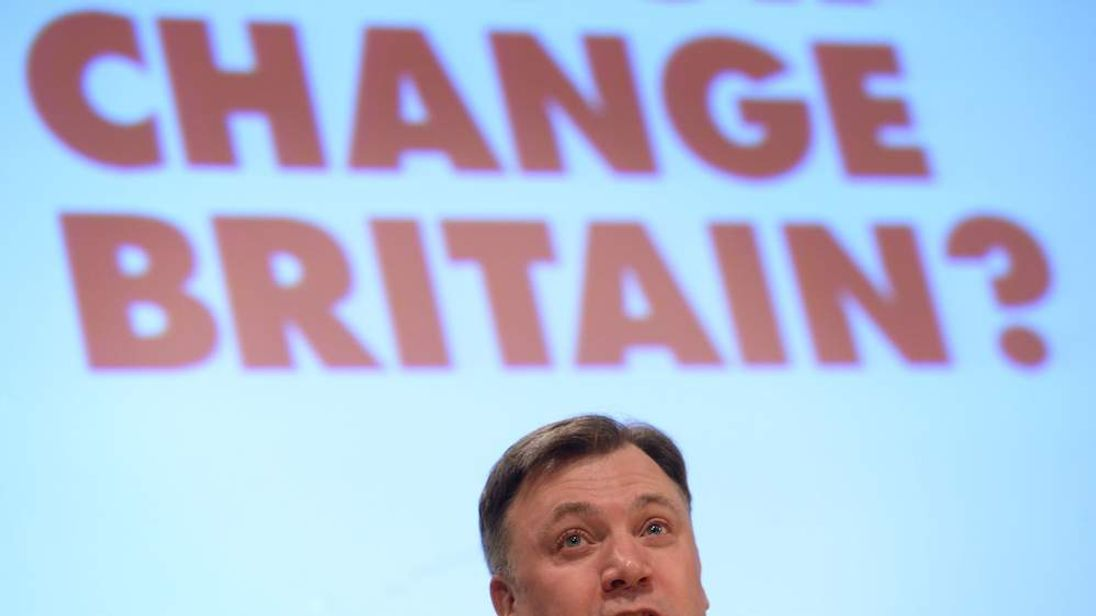 Shadow Chancellor Ed Balls MP speaks to the Fabian Society's annual conference.