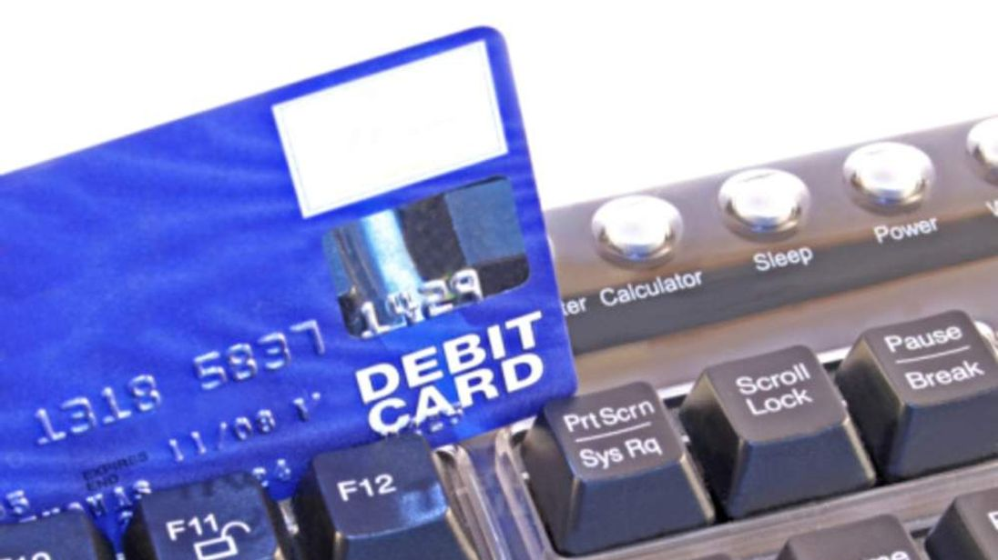Debit card and computer