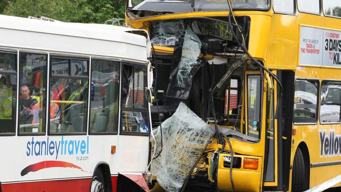 County Durham school bus crash
