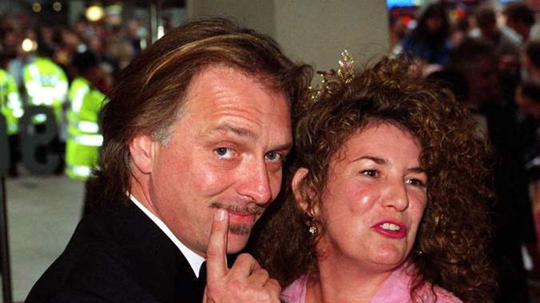 Rik Mayall and wife Barbaa