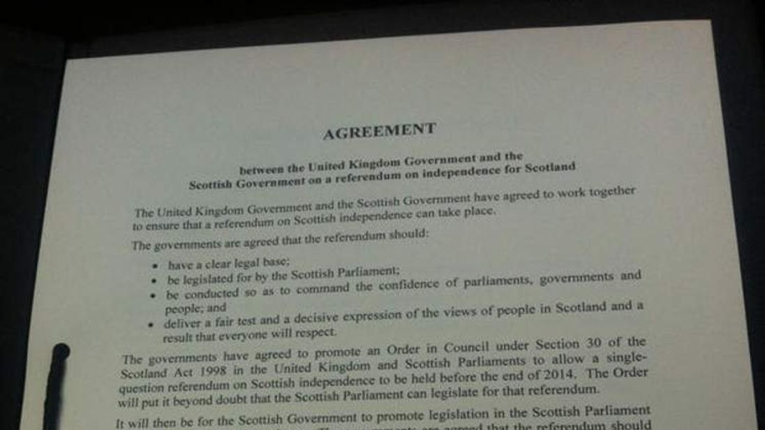 Scotland Referendum Agreement