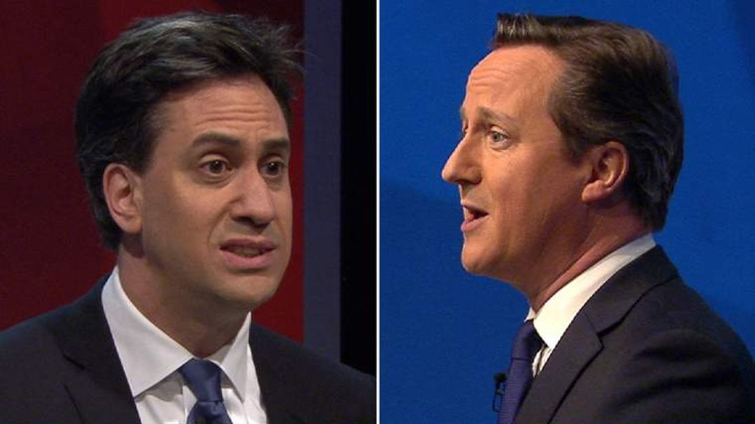 Ed Miliband and David Cameron live